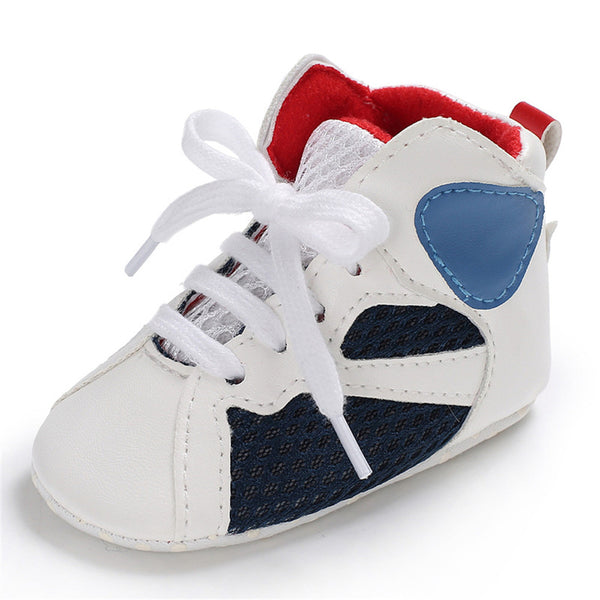 Baby Boys Soft Lace Up Non-slip Sneakers