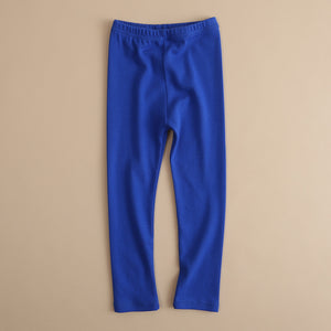 Girls Soft Solid Color Elastic Waist Trousers