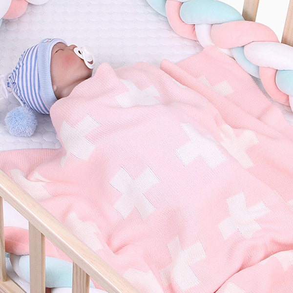 Baby Soft Stroller Cover Cross Wholesale Baby Blanket