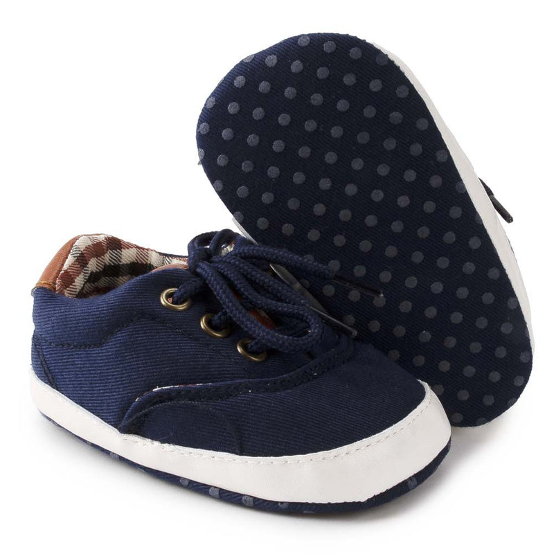 Baby Boys Solid Canvas Lace Up Casual Sneakers