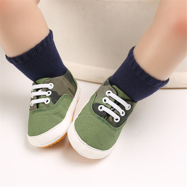 Baby Boys Solid Canvas Lace Up Sneakers Wholesale Toddler Shoes