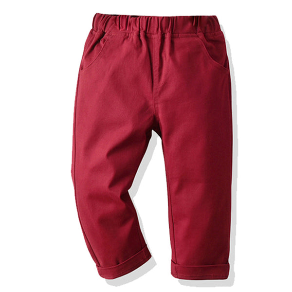 Toddler Boys Solid Casual Pants Children's Wholesale Boutique Clothing