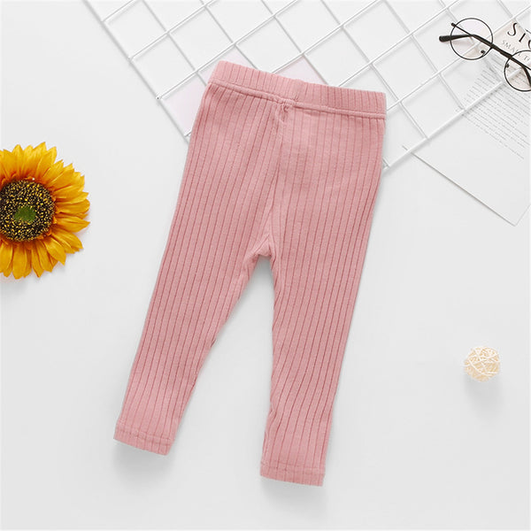 Baby Girls Solid Color Casual Leggings Baby Clothes Vendors