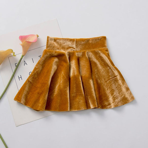 Girls Solid Color Casual Pleated Skirts Toddler Girl Wholesale Clothing