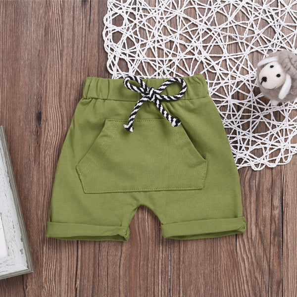 Baby Unisex Solid Color Casual Shorts Wholesale Baby Clothes Usa