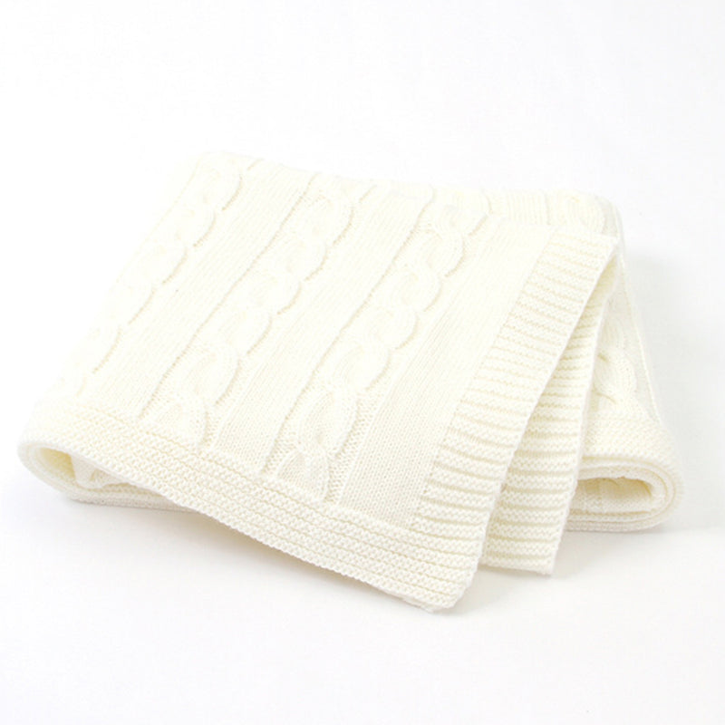Baby Solid Color Knitted Casual Newborn Baby Blankets