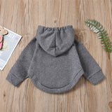 Unisex Solid Color Long Sleeve Hooded Cloak Style Top Trendy Kids Wholesale Clothing