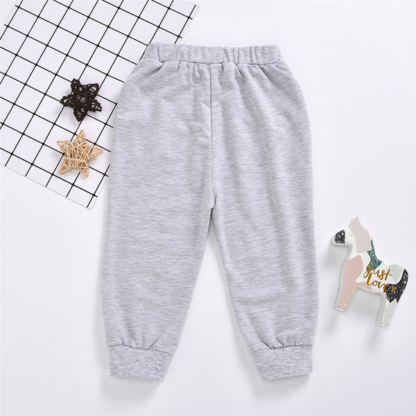 Boys Solid Color Pocket Casual Trousers Boy Clothing Wholesale