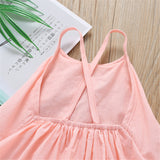 Baby Girls Solid Color Sling Mesh Dress Kids Clothing Suppliers
