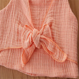 Baby Girls Solid Color Sling Top & Floral Shorts & Headband Baby Wholesale Suppliers