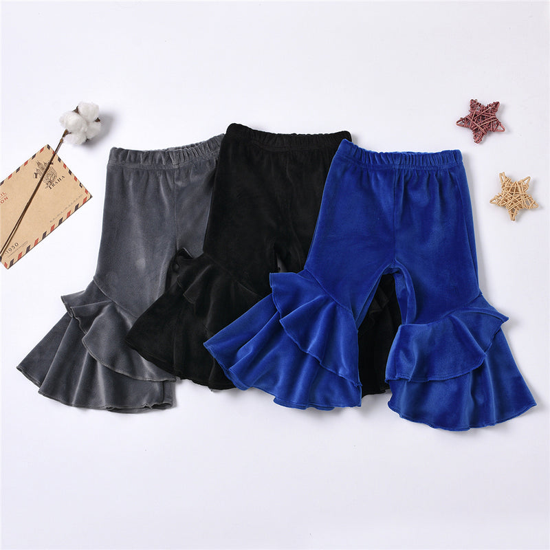 Baby Girls Solid Color Soft Bell Trousers wholesale children's boutique clothing suppliers usa