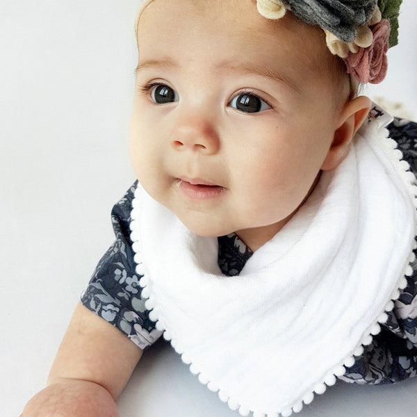 Baby Solid Cotton Soft Bibs Baby Accessories Wholesale
