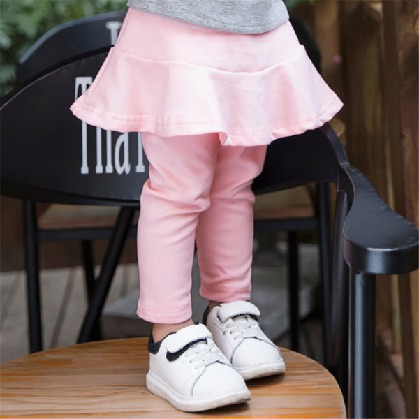 Toddler Girls Solid Culottes Casual Leggings Toddler Girls Wholesale