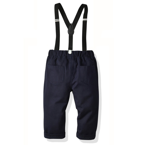 Toddler Boys Solid Daily Overalls Children's Wholesale Boutique Clothing