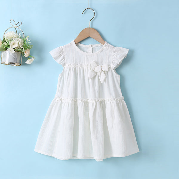 Solid Girls' Cute Dress Toddler Girl Wholesale Clothing