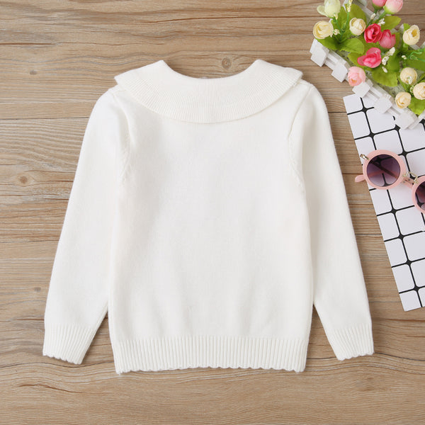 Baby Girls Solid Long Sleeve Casual Sweaters Wholesale Baby Clothing
