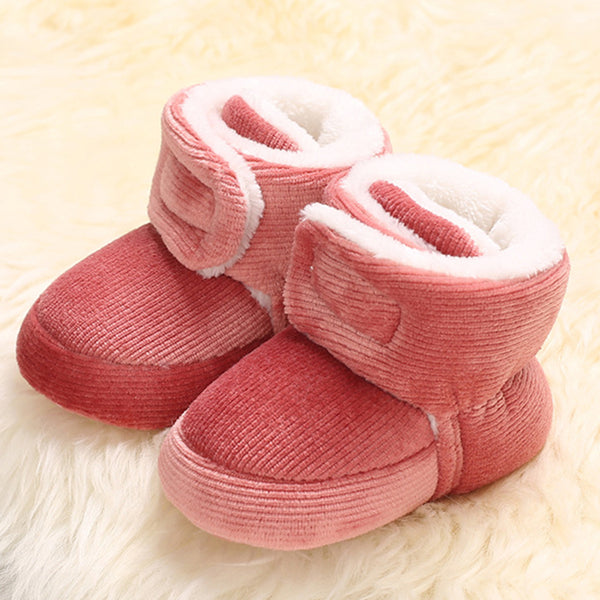 Baby Unisex Solid Magic Tape Snow Boots Wholesale Kids Shoes