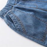 Unisex Solid Pocket Casual Jeans
