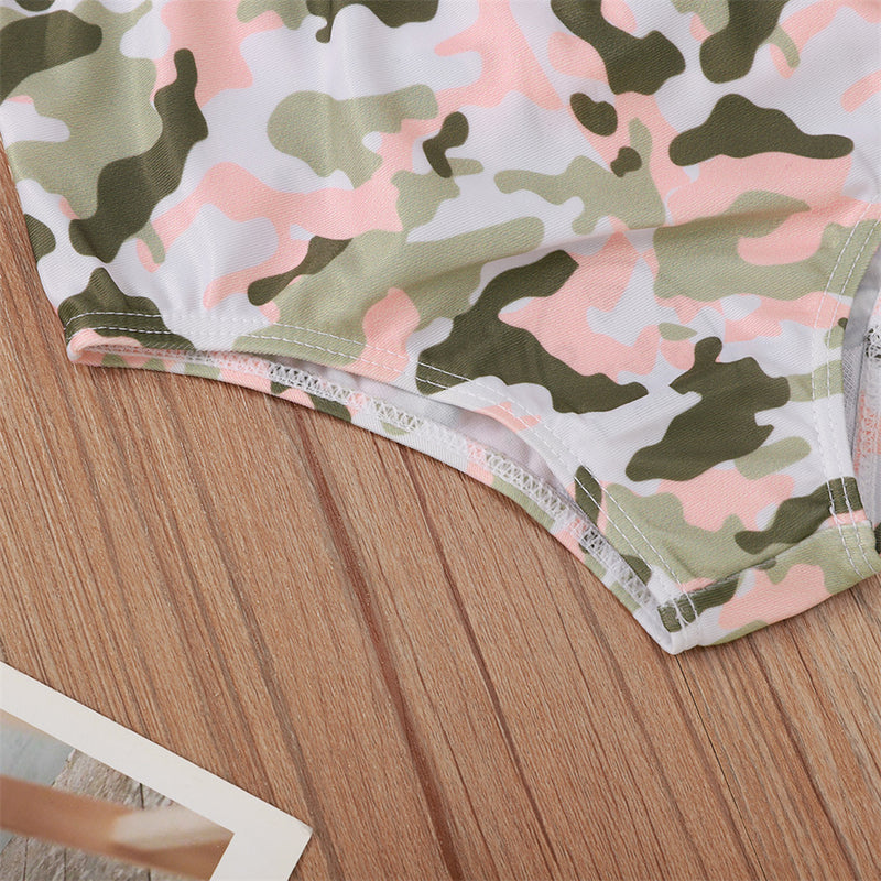 Baby Girls Solid Tank Top & Camo Shorts & Headband Baby Clothing Wholesale Distributors