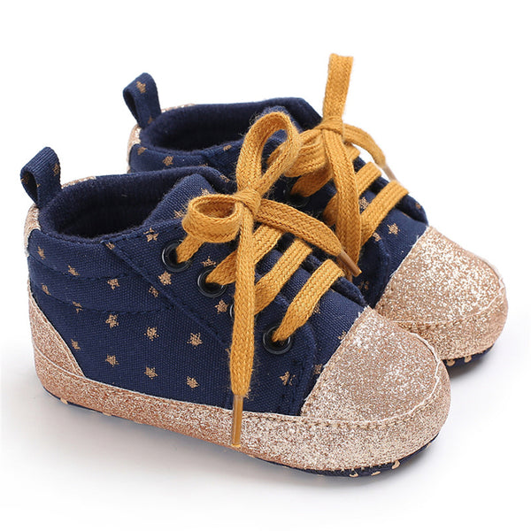 Baby Unisex Star Lace-up Sneakers Wholesale