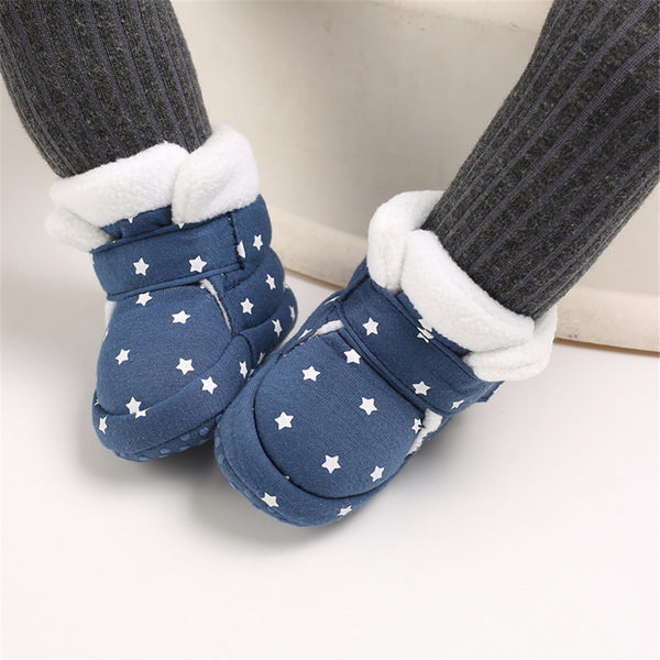 Baby Girls Star Magic Tape Snow Boots Wholesale Kid Shoes