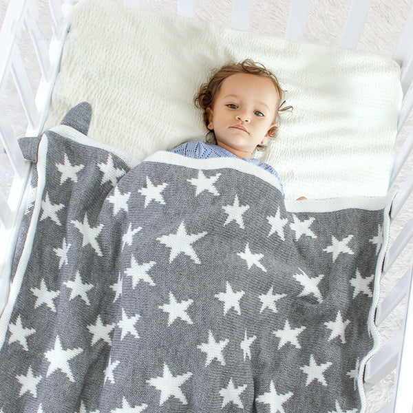 Baby Star Pattern Solid Color Solid Blankets Baby Blanket Wholesale