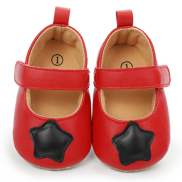 Baby Girls Star Princess Magic Tape Toddler PU Shoes Childrens Wholesale Shoes