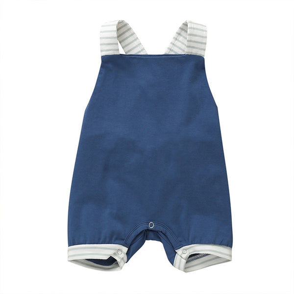 Baby Unisex Striped Casual Suspender Romper Boutique Baby Clothes Wholesale
