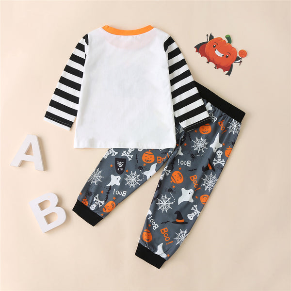 Boys Striped Halloween Printed Tops & Trousers Boys Wholesale Clothing