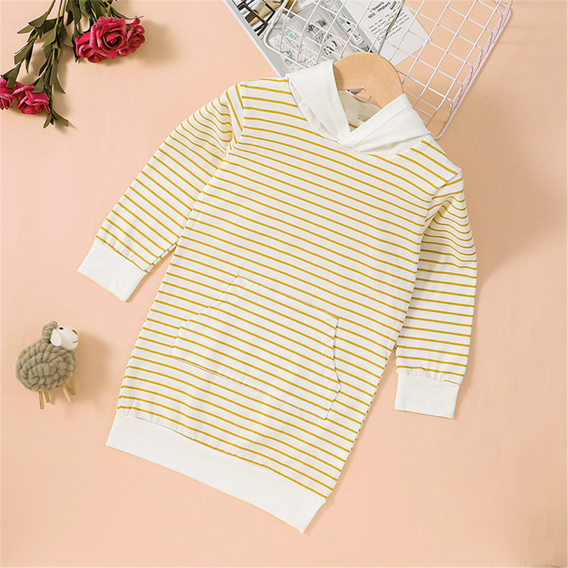 Girls Striped Long-sleeve Hooded Cute Top Kids Boutique Wholesale