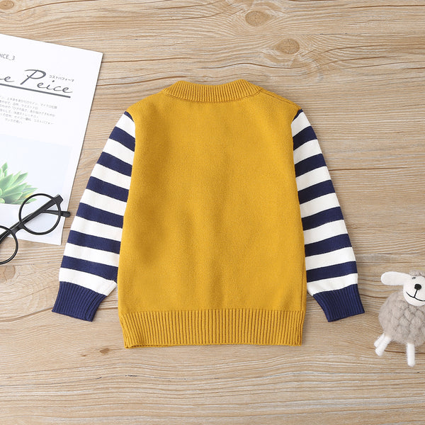 4PCS Baby Unisex Striped Rabbit Long Sleeve Sweater Jacket Wholesale Baby Outfits