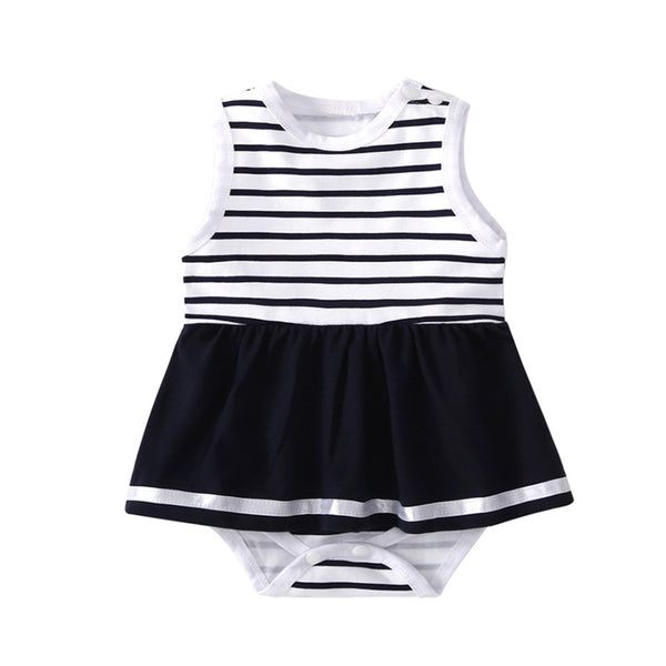 Baby Striped Siblings Sleeveless Summer Romper Baby Clothing Wholesale