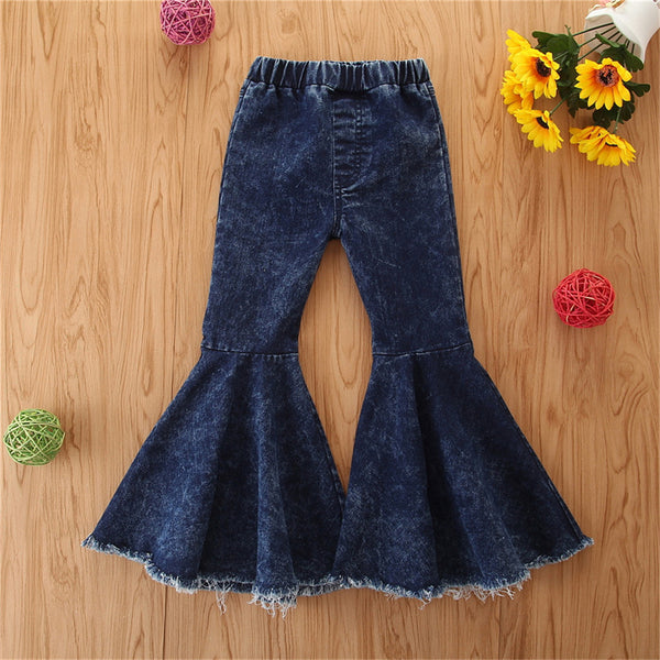 Toddler Girls Stylish Flared Jeans Girl Boutique Clothing Wholesale