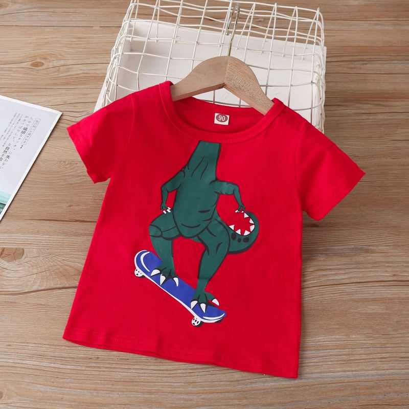 Boys Summer Boys' Cartoon Printed Short Sleeve T-Shirt Kids Clothing Suppliers