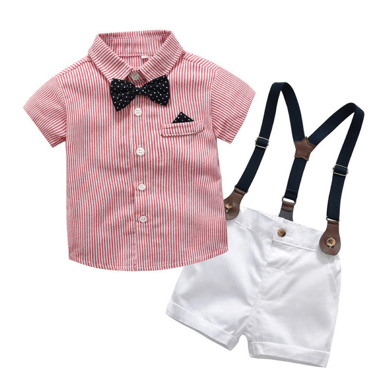 Summer Boys' Short Sleeve Shirt & Shorts Baby Boy Sets