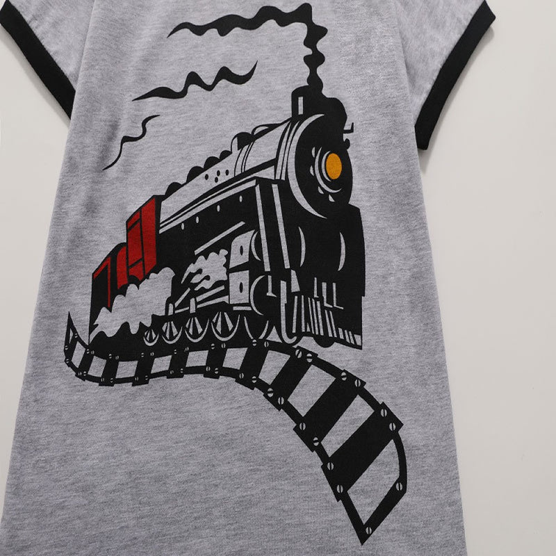 Boys Summer Round Neck Printed Cartoon Boy's T-Shirt Wholesale Kidswear