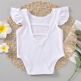 Baby Girls Summer Sleeveless Solid Color Romper Baby Wholesale Clothing