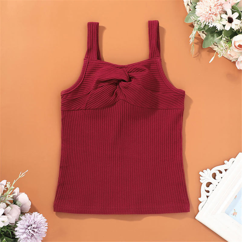 Girls Summer Solid Color Sling Top Toddler Girl Wholesale Clothing