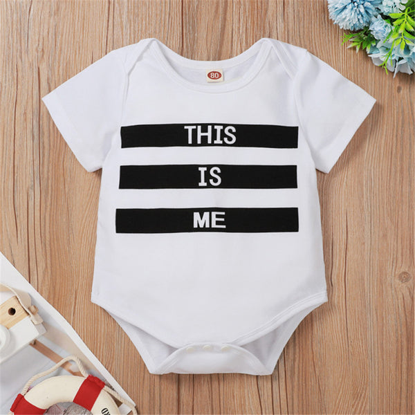 Baby Unisex This Is Me Short Sleeve Romper Baby Wholesale Clothes