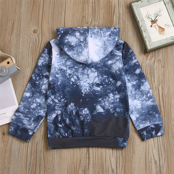 Boys Tie Dye Letter Printed Long Sleeve Top Boy Clothes Wholesale