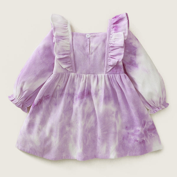 Baby Girl Tie Dye Long Sleeve Dress Baby Wholesale Clothing