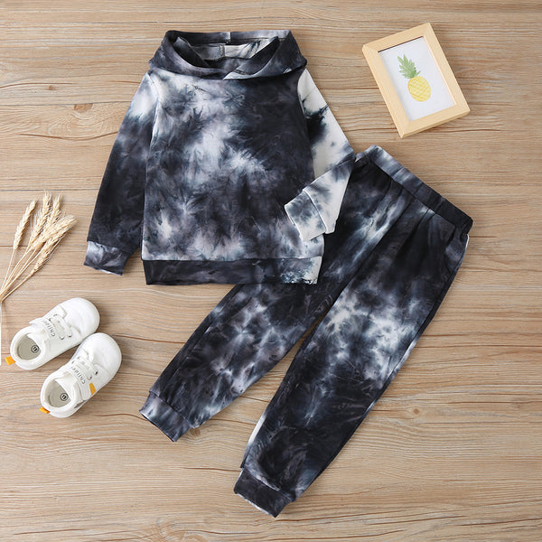 Girls Tie Dye Long Sleeve Hooded Top & Pants