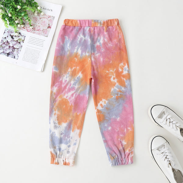 Toddler Girls Tie Dye Sweatpants