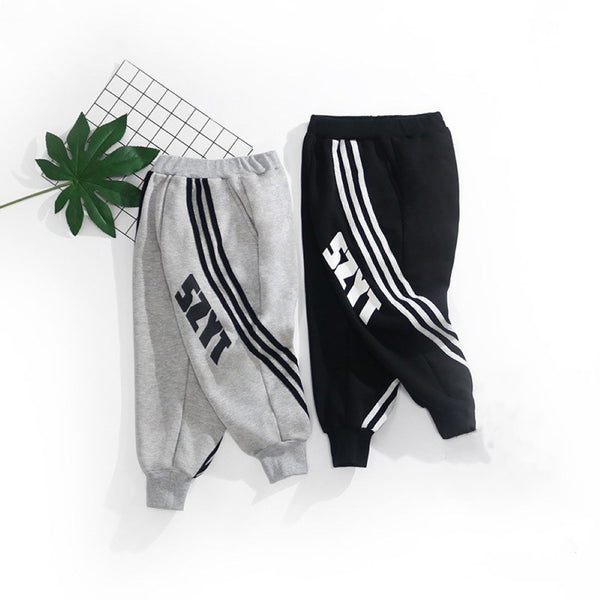 Toddler Boy Letter Printed Striped Pants Boy Clothes Wholesale