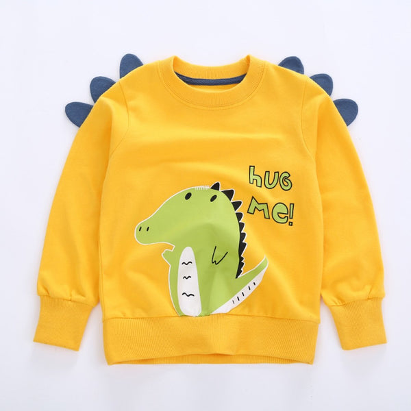 Toddler Boys Long Sleeve Dinosaur Printed T-Shirt Boys Wholesale Clothes