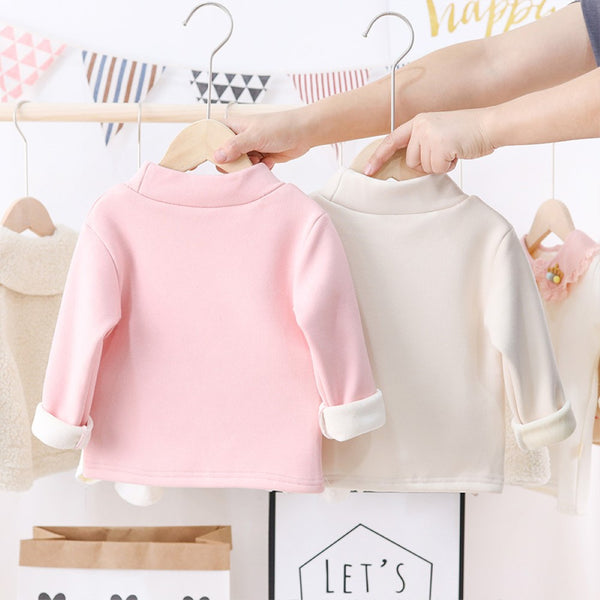 Toddler Girls Long Sleeve High Collar T-Shirts Wholesale Little Girls Clothes