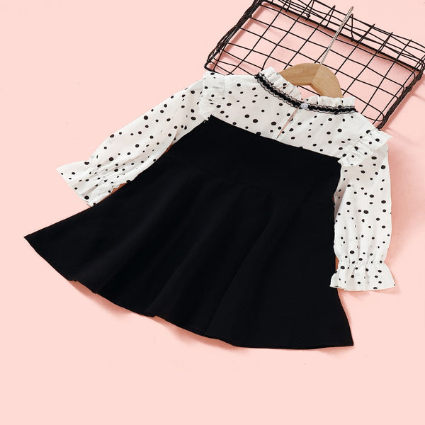 Toddler Girls Polka Dot Dress Wholesale Girl Dresses