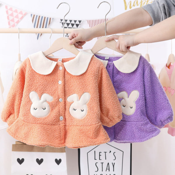 Toddler Girls Rabbit Printed Long Sleeve Top Toddler Girls Wholesale