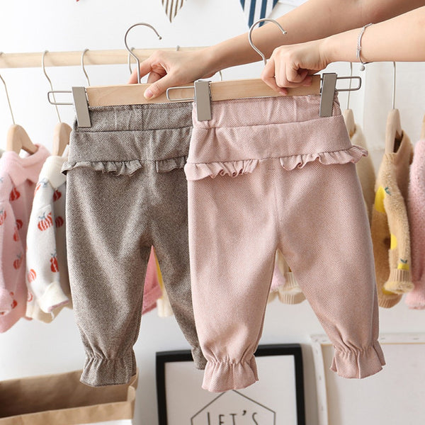 Toddler Girls Solid Color Bow Decor Pants Girls Clothing Wholesalers