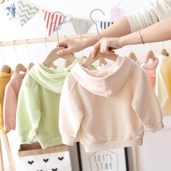 Toddler Girls Solid Color Hooded Top Toddler Girls Wholesale